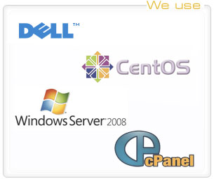 cent os, dell, windows, cpanel